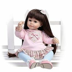 Toddler Bebe Reborn Baby Girl Doll Silicone Vinly Likelife 2