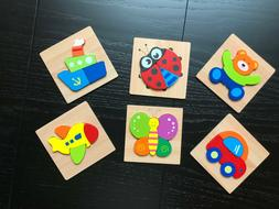 6 Pack Wooden Jigsaw Puzzles For Toddlers Kids Montessori To