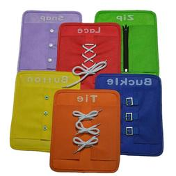 6pcs/Set Montessori Learn to Dress Boards Early Learning Bas