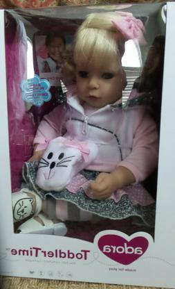 """Adora Toddler The Cat's Meow 20"""" Girl Weighted Doll Gift Set"""