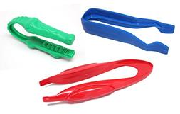Curious Minds Busy Bags 3 CHUNKY Safety Plastic Tongs/Tweeze
