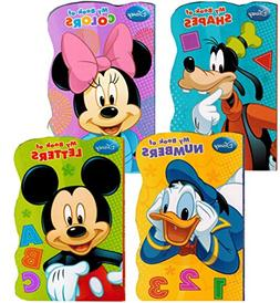 """Disney Mickey Mouse """"My First Books"""" -- Set of 4 Shaped Disn"""
