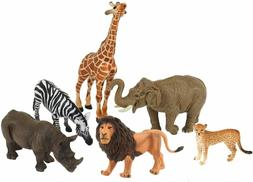 African Animals Set Figurines Hand Painted Realistic Durable