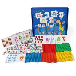 Baby Wooden Counting Sticks Math Matching Game Early Learnin
