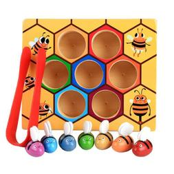 Children Preschool Wooden Bee Clip Out Montessori Educationa