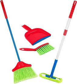Play22 Kids Cleaning Set 4 Piece - Toy Cleaning Set Includes