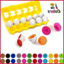 Color & Shapes Matching Egg Toy Shape Sorting Recognition Le