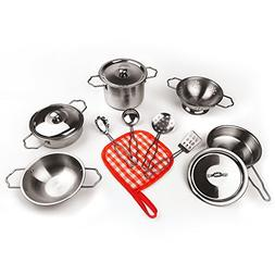 Cookware set 13pcPretend Toys Stainless Steel Varieties of P