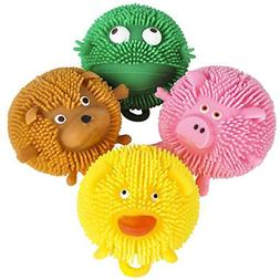 Curious Minds Busy Bags SET OF 4  Cute Mini Animal Puffer Ba