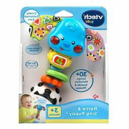 VTech Baby Toddler Toys Shaker Noise Baby Rattle Sing Puppy