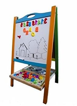 Elk & Bear Double Sided Magnetic Whiteboard Painting Easel f