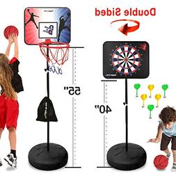 Dunk it Darts Magnetic Dart Board and Basketball Game - 2 Fu