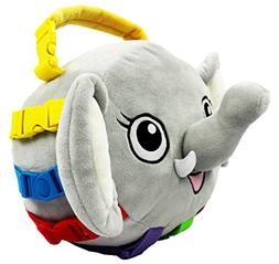 """BUCKLE TOY """"Bailey"""" Elephant - Toddler Early Learning Basic"""