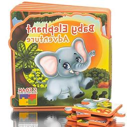 First Puzzles for Toddlers Baby Elephant Adventure Toy Book,