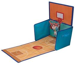 Folding Basketball Hoop Toy Organizer by Clever Creations |