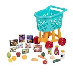 Battat Grocery Cart – Deluxe Toy Shopping Cart with Preten