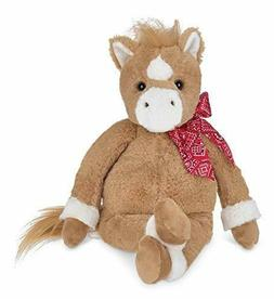 "Horse Stuffed Animal Bearington Plush Toy 16"" Brown White Ki"