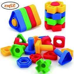 Jumbo Nuts and Bolts Toys for Toddlers Preschoolers Kids, ST