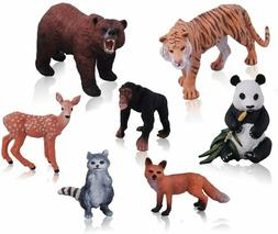 Jungle Animals Set Figurines Hand Painted Realistic Durable