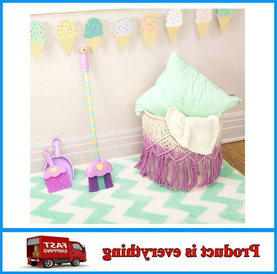 4-piece Toy Broom and Dustpan Set for Toddlers Kids Play