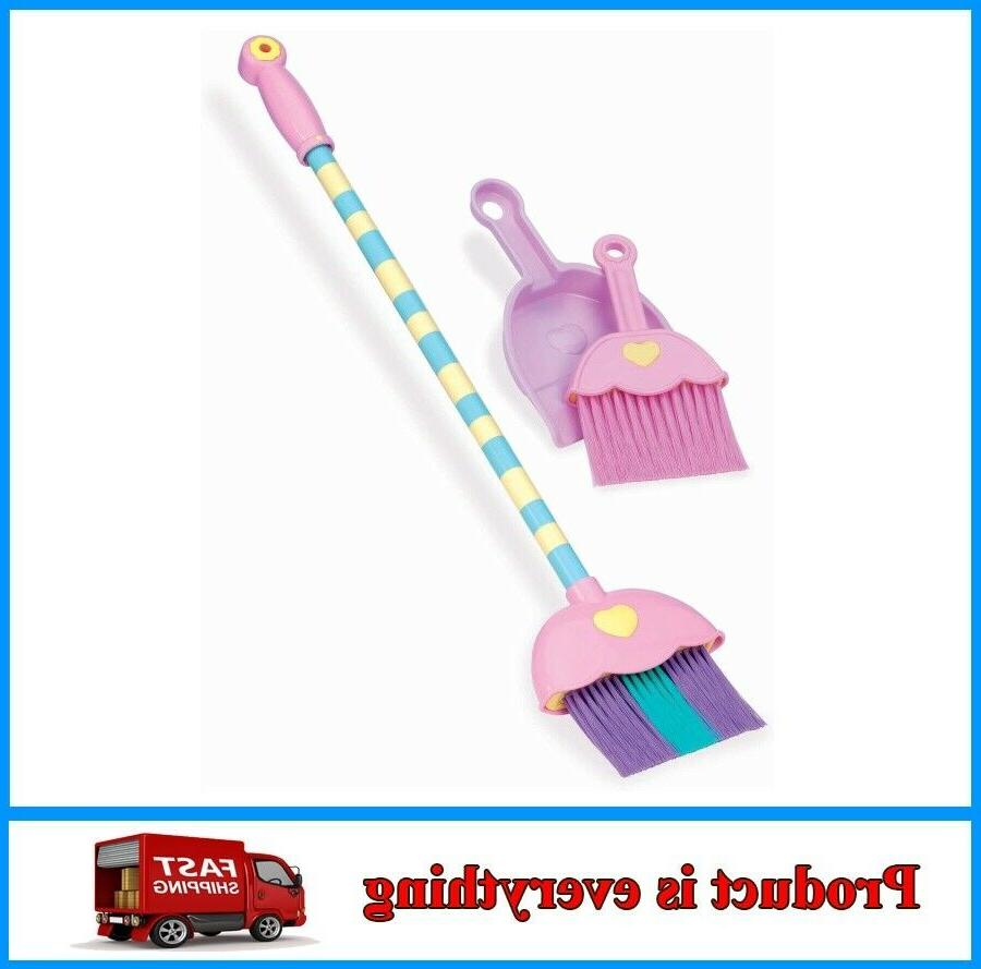 4 piece toy broom and dustpan set