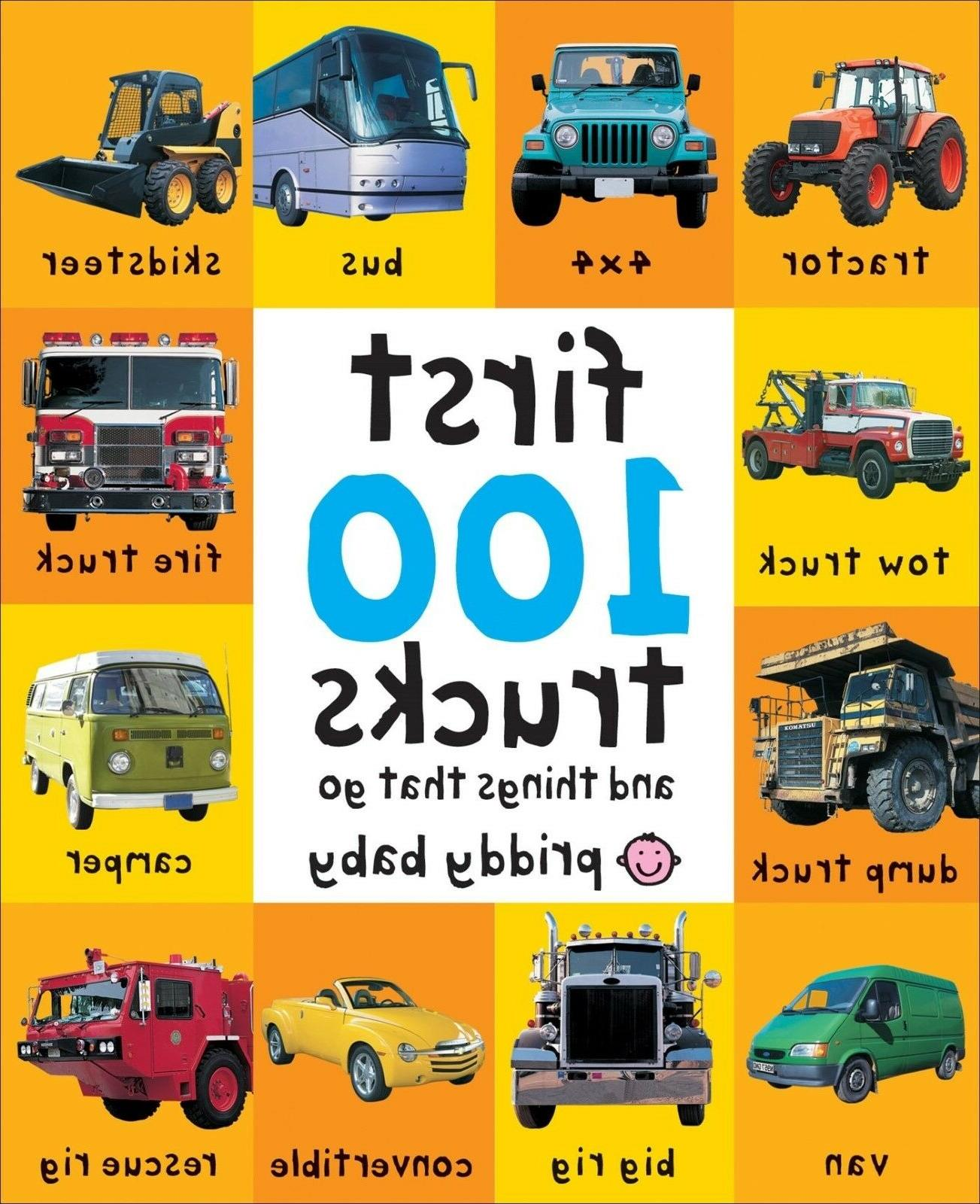 First 100 Trucks Cars Toddler Learning Board Book Child Earl