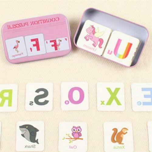 Baby Toddler Early Education Cognitive Card Puzzle Toy Kids