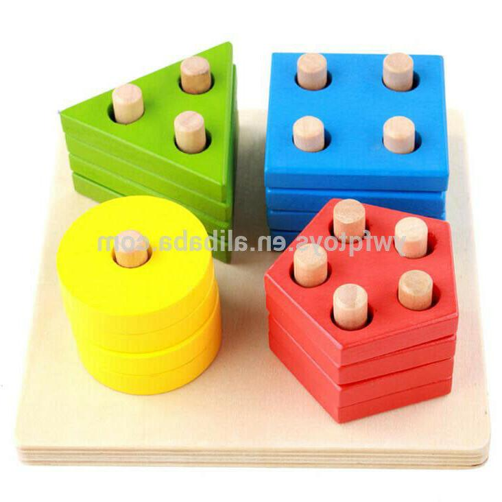 Baby Early Toy Wood Colors Shapes