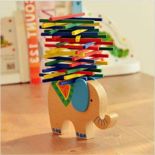 Baby Toddler Montessori Toys Wood Puzzle Stacking Blocks Kid