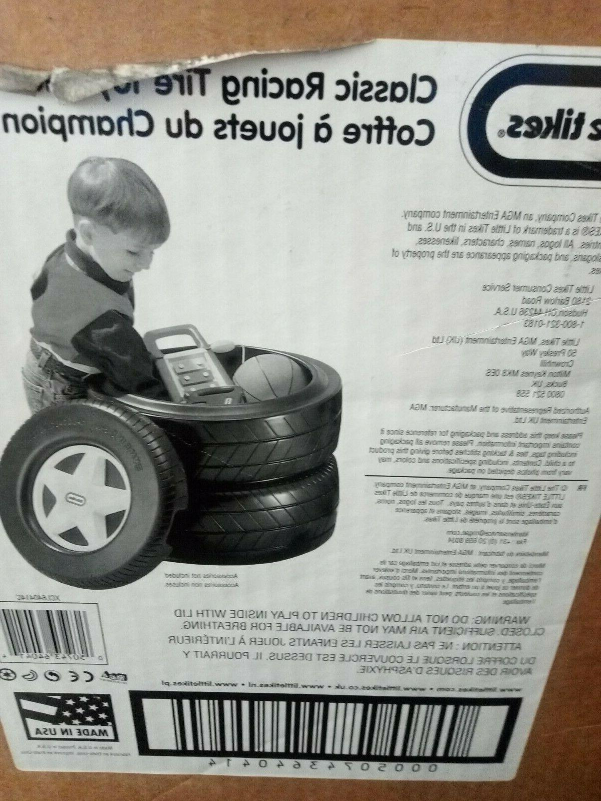 classic racing tire toy chest ages 2