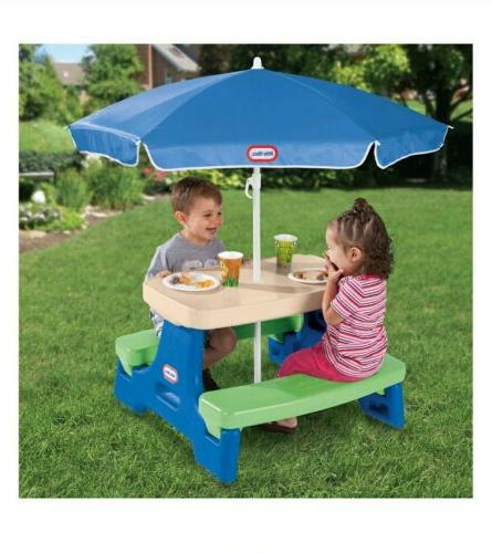 Little Jr. Table With Umbrella Kids Picnic