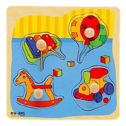 JW_ Baby Development Animal Wooden Puzzle Toy