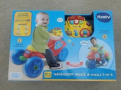 NEW Vtech 2-in-1 Learn & Zoom Motorbike Baby Toddler Toy 12-