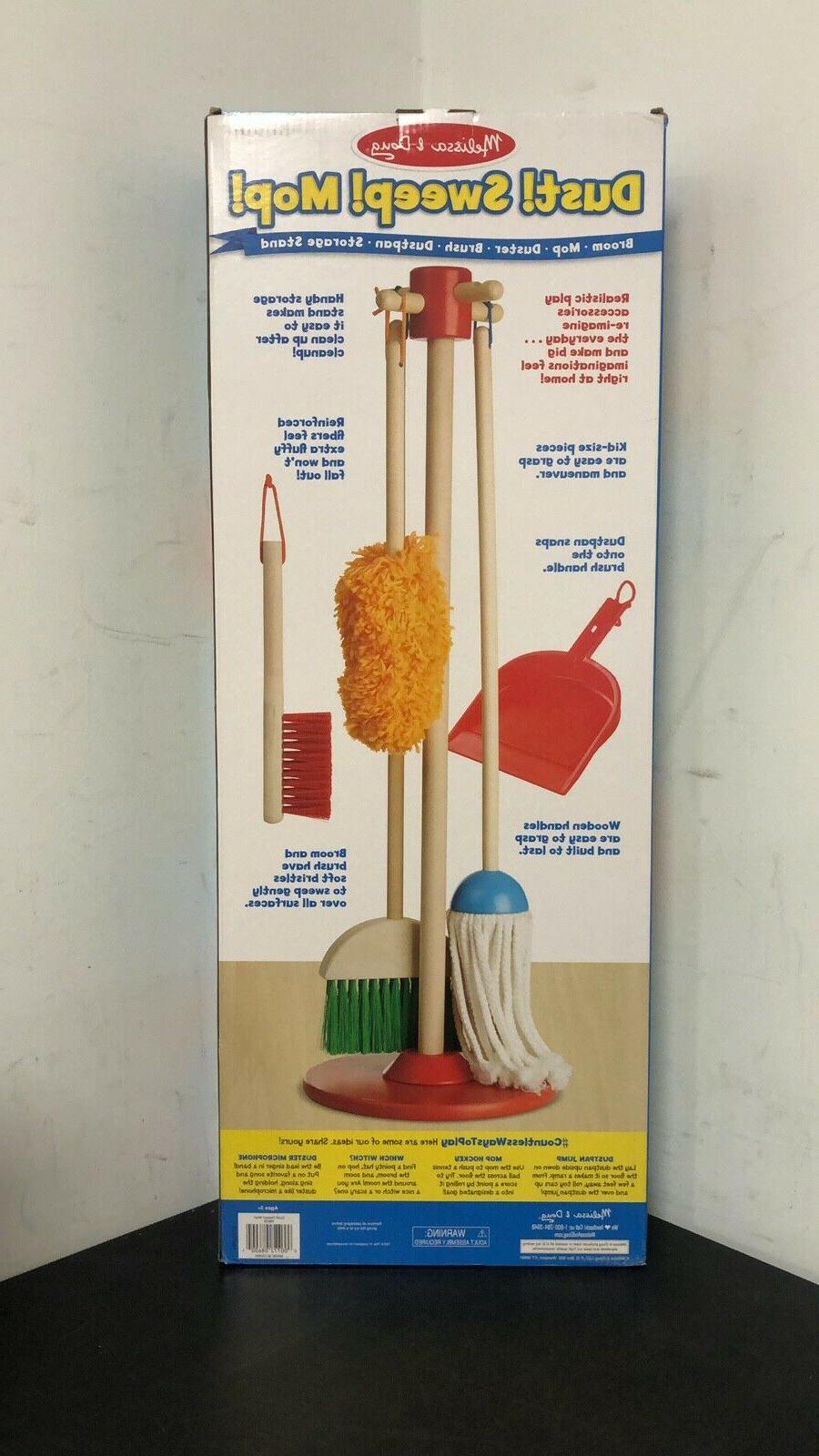 NEW! Melissa Let's Sweep! Mop! 6-Piece Play