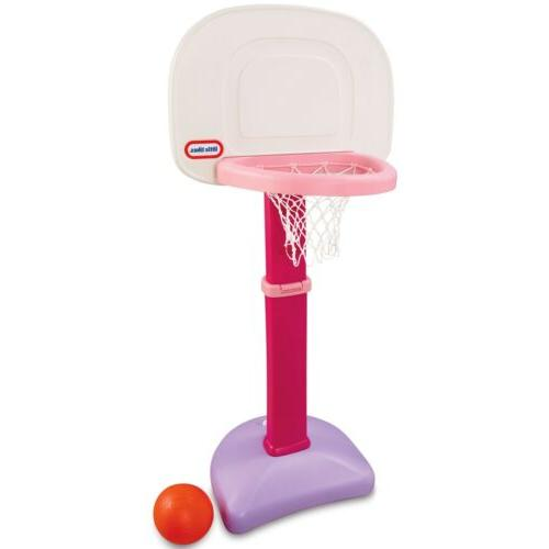 NEW Tikes TotSports Easy Basketball Pink Sized
