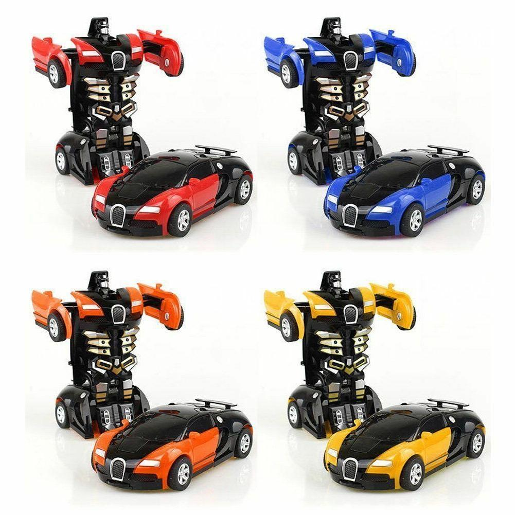 Robot Car Transformers Kids Toys Toddler Vehicle Cool Toy Fo