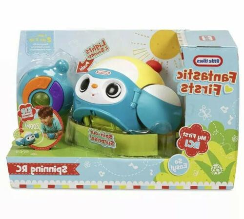 spinning rc blue fantastic firsts toddler toy