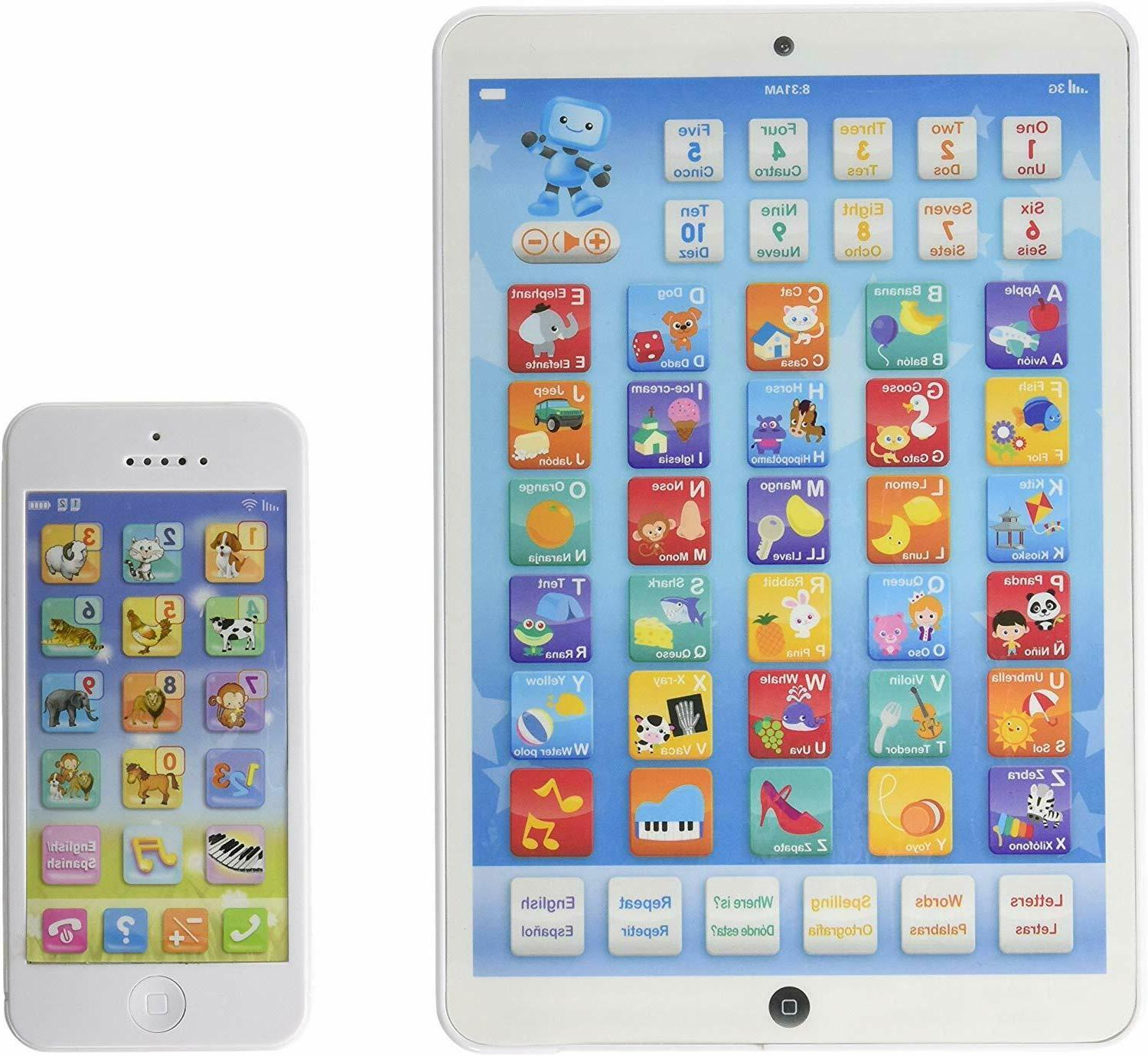 Toddler Educational Tablet Phone Combo English Spanish Elect