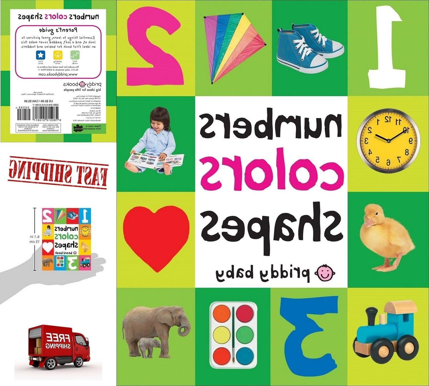 Toddler Learning Book First 100 Numbers Colors Shapes Board