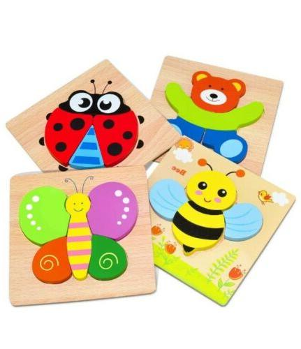 Toddler Puzzles Ages Jigsaw Puzzles Wooden for Year Old 4