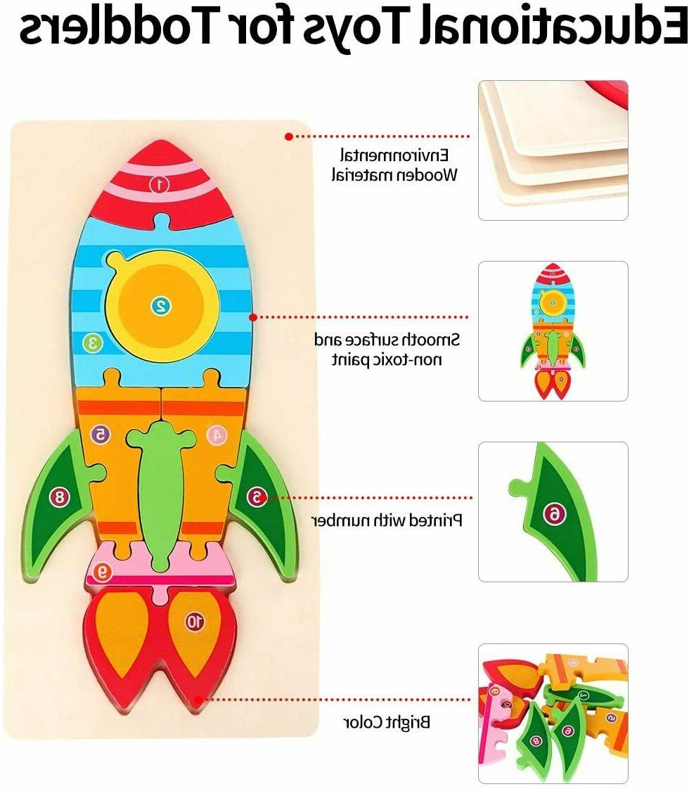 Toddler Toys Gift for 2 3 Year Old, Wooden Montessori Toys Pr