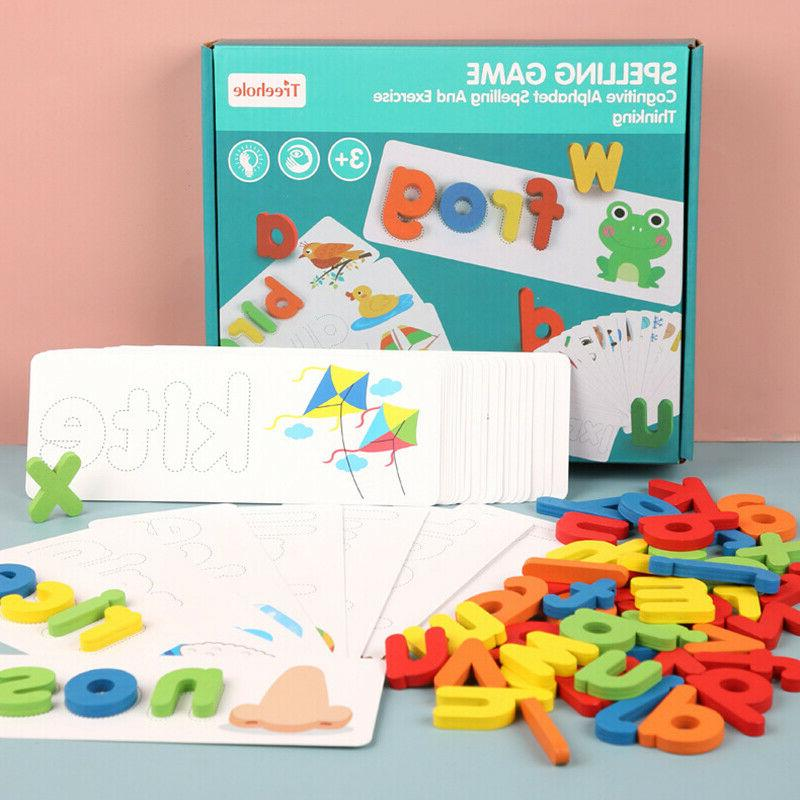 Toddlers Wooden Animal Puzzle Card word