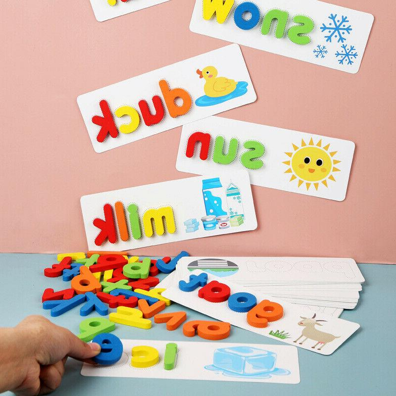 Toddlers Preschool Learning Wooden Alphabet Letters Puzzle