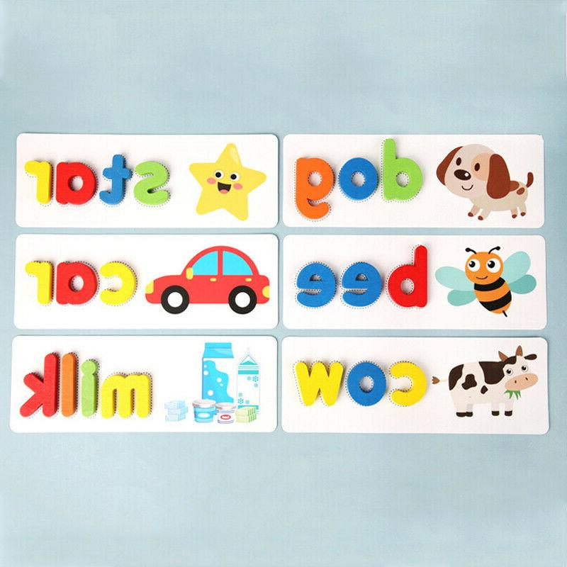 Toddlers Wooden Animal Alphabet