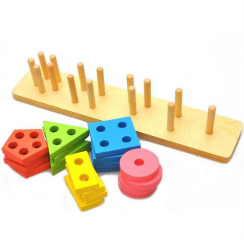 Wooden Toys 3 Old Girls Shap