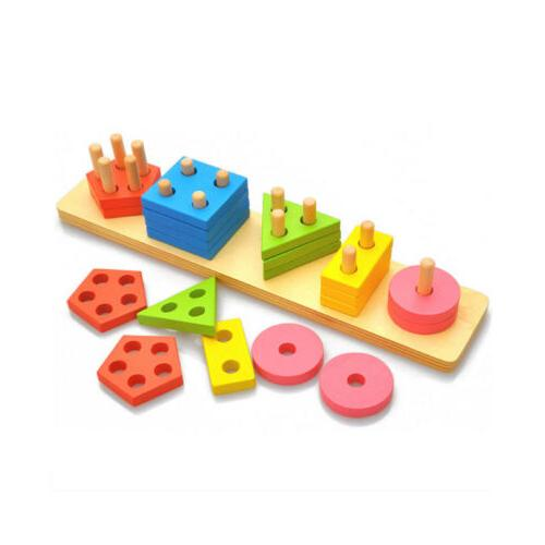 Wooden Educational Toys For 1 3 4 Old Girls