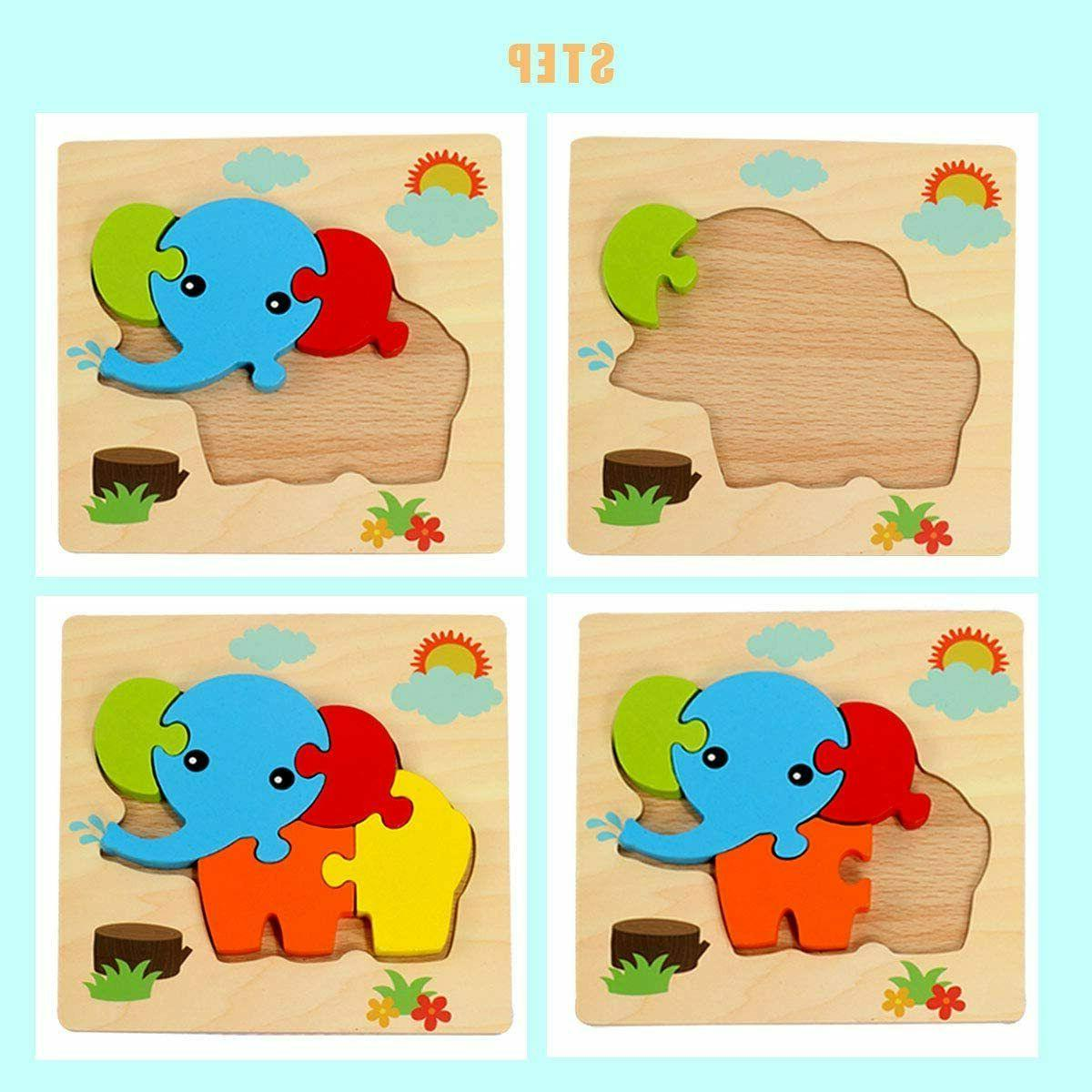 Wooden Puzzles Toddlers Kids Educational