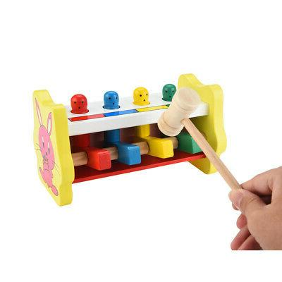 Wooden Toys with Mallet Game Educative Toddler