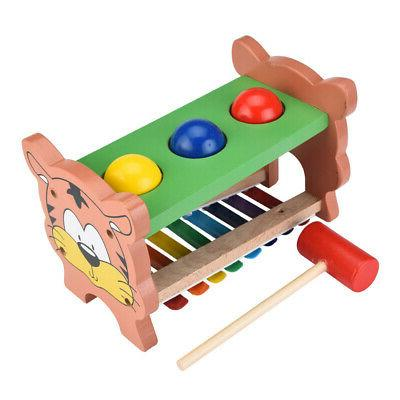 Wooden Pounding Hammering Toys with Game Educative