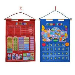 Learning Resources Calendar w/ Weather Chart Wall Haning Tod